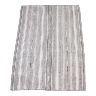 Vintage Turkish Flat-Weave Rug With Brown and Blush Tones For Sale