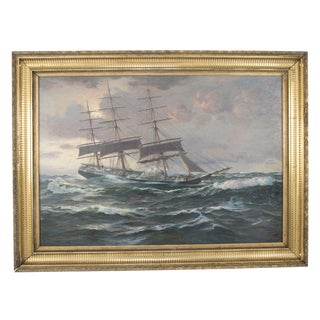 """""""Furling the Foresail"""" Painting by Charles Robert Patterson For Sale"""