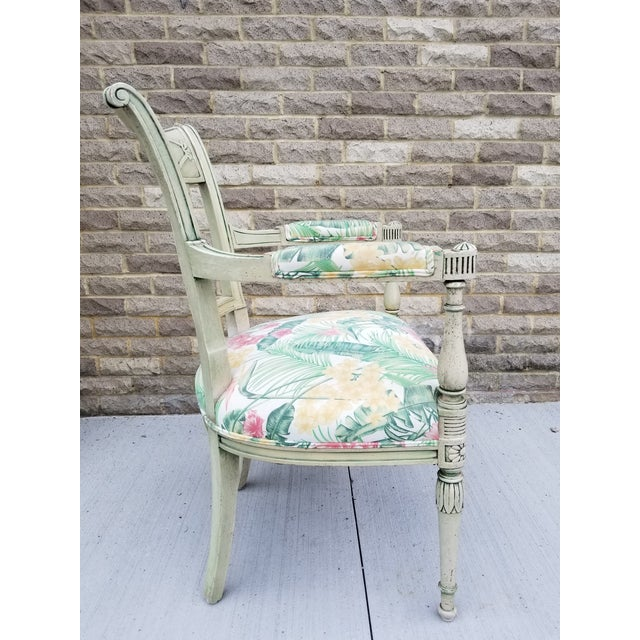 Late 19th Century Italian Neoclassical Painted Armchair For Sale - Image 5 of 13
