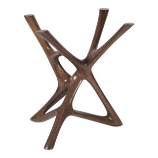Amorph Ava Dining Table - Solid Wood Stained Graphite Walnut For Sale