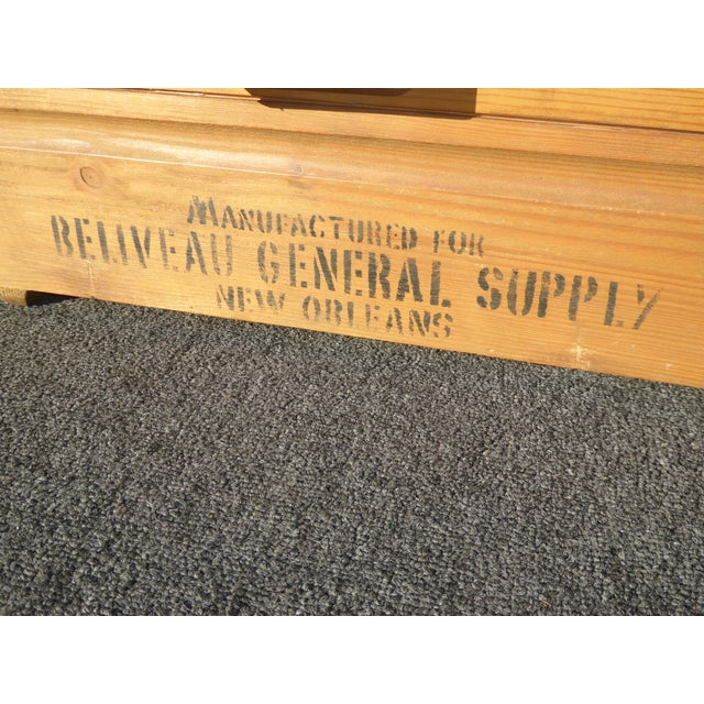 Vintage Industrial Tools Supplies Storage Box for Beliveau General Supply For Sale - Image 9 of 13