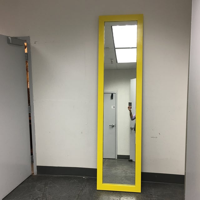 Yellow Floor Mirror - Image 5 of 7
