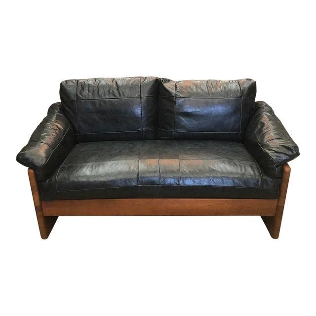 Vintage Mikael Laursen Danish Modern Leather Loveseat For Sale