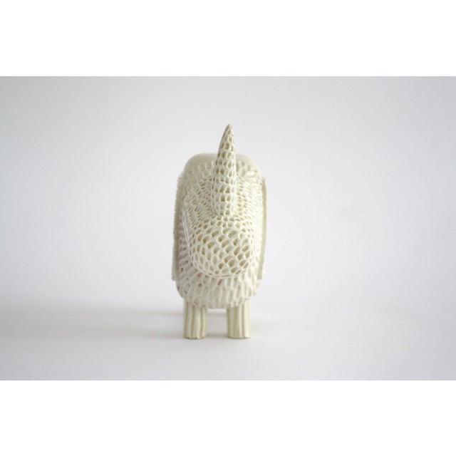 Modern Primitive Porcelain Rhino For Sale In Nashville - Image 6 of 8