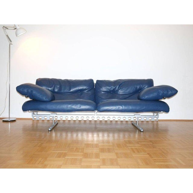 Pierluigi Cerri Ouverture Leather Sofa for Poltrona Frau, Italy, 1980 For Sale - Image 5 of 7