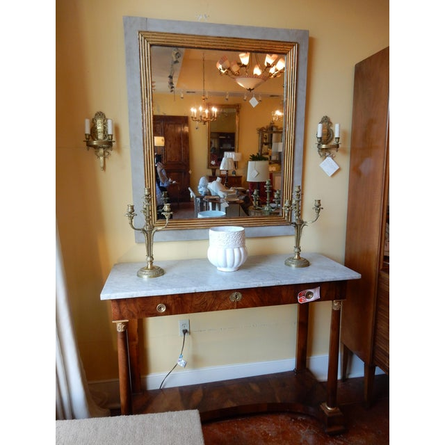Gold French Directoire 19th Century Mirror For Sale - Image 8 of 9