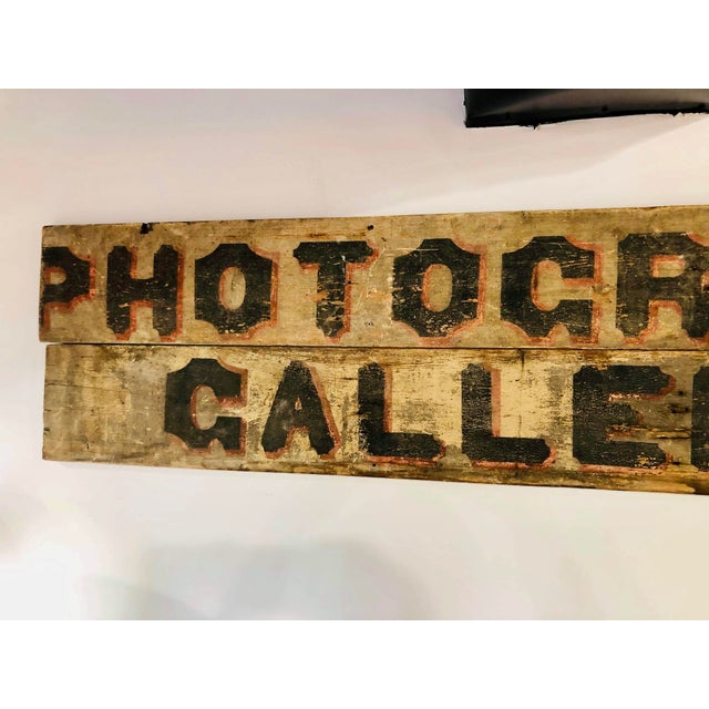 American Late 1800s Photography Trade Sign For Sale - Image 3 of 10