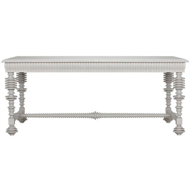 Portuguese Desk, Solid White For Sale - Image 10 of 13