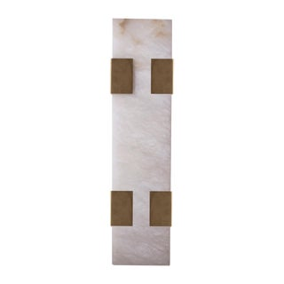 Modern Contemporary 003-4c Sconce in Brass and Alabaster by Orphan Work For Sale