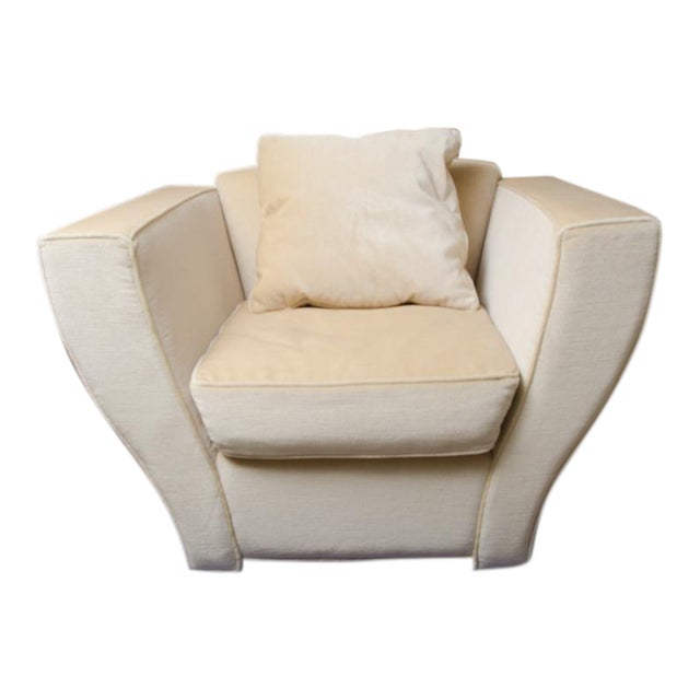 Brueton Oversized Lounge Chair Upholstered in Mohair For Sale
