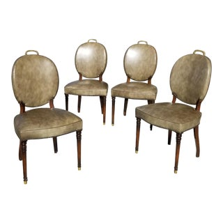 Set of Four Game Table Chairs For Sale