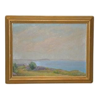 Felix Bosch Cape Cod Landscape Oil Painting Early 20th Century For Sale
