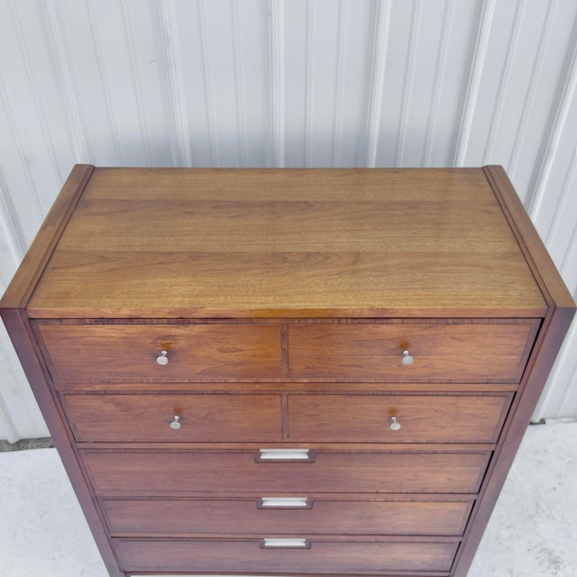 1960s Mid-Century Highboy Dresser From Basic-Witz For Sale - Image 5 of 13