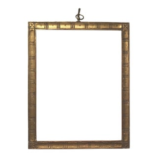 1900s Arts And Crafts Carved Gilt Wood Picture Frame Chairish