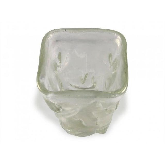 Glass Flavio Poli Square Vase North Irisè, Design by Flavio Poli for Seguso Vetri d'Arte For Sale - Image 7 of 7