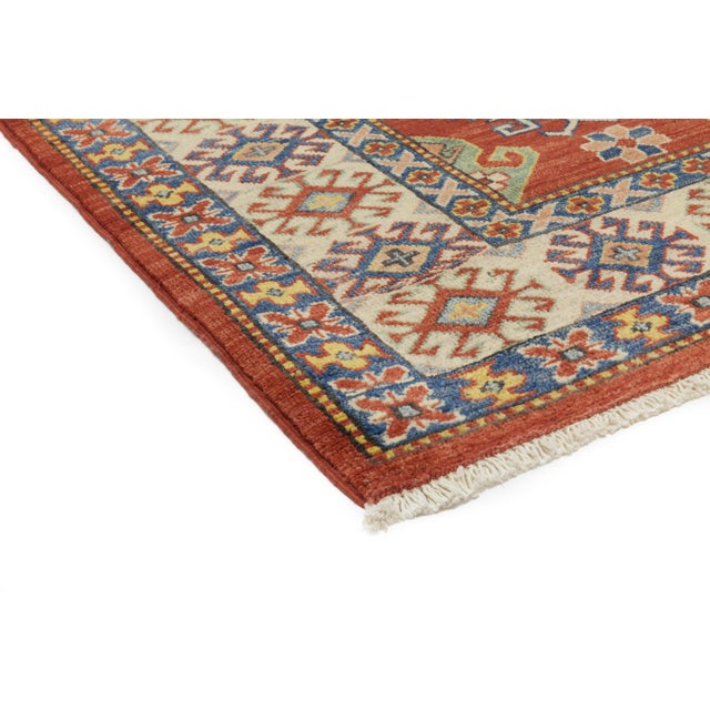 """Gabbeh Hand Knotted Area Rug - 5'2"""" X 5'10"""" - Image 2 of 3"""
