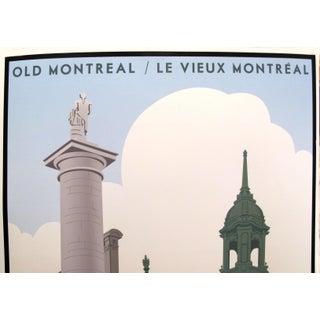 2018 Modern Retro Poster, Old Montreal/Vieux Montréal - Place Jacques Cartier (Small) Preview