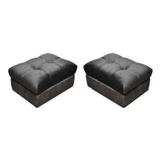 """Tufted Dunbar Rolling """"Party Ottomans"""" by Edward Wormley For Sale"""