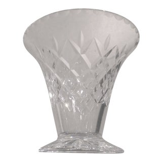 Heavy Lead Cut Crystal Vase For Sale