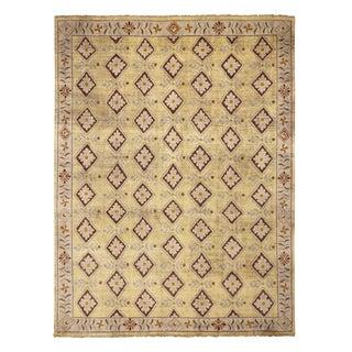 Burano Golden-Beige Wool Rug-9'1'x12' For Sale