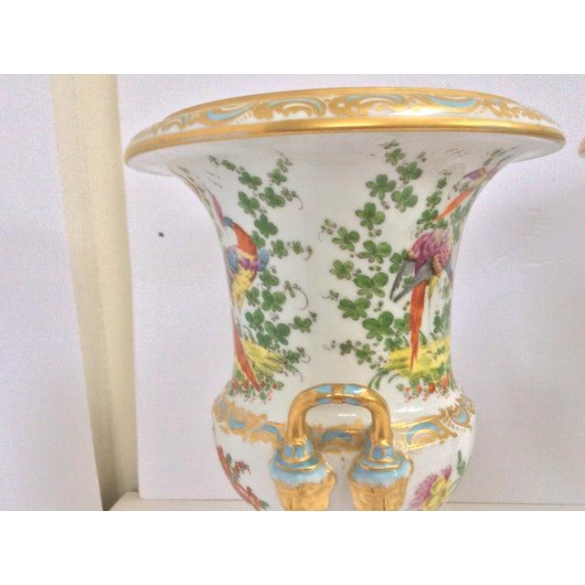Stunning Large Pair Of Porcelain Urns - Image 4 of 7