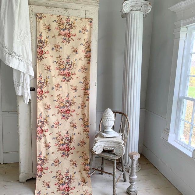 Vintage French Shabby Chic Roses Pattern Curtain For Sale - Image 6 of 10