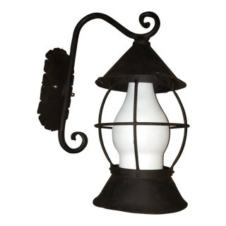 Rancho Monterrey Style Antique Reproduction Exterior Sconce For Sale