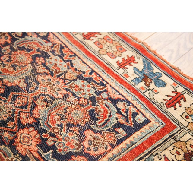 "Antique Bijar Area Rug - 5'4"" X 6'8"" - Image 7 of 10"