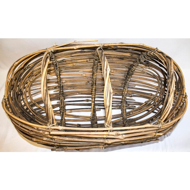 Country Woven Twig Basket For Sale - Image 5 of 5
