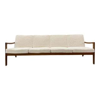 Ole Wanscher for John Stuart Danish Modern Sherpa Couch Sofa, Mid Century Modern