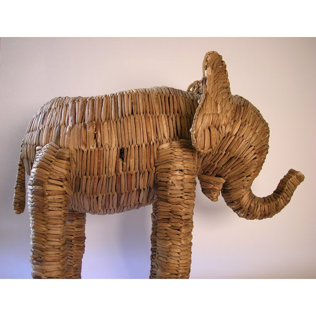 Vintage Large Seagrass Elephant - Image 3 of 7
