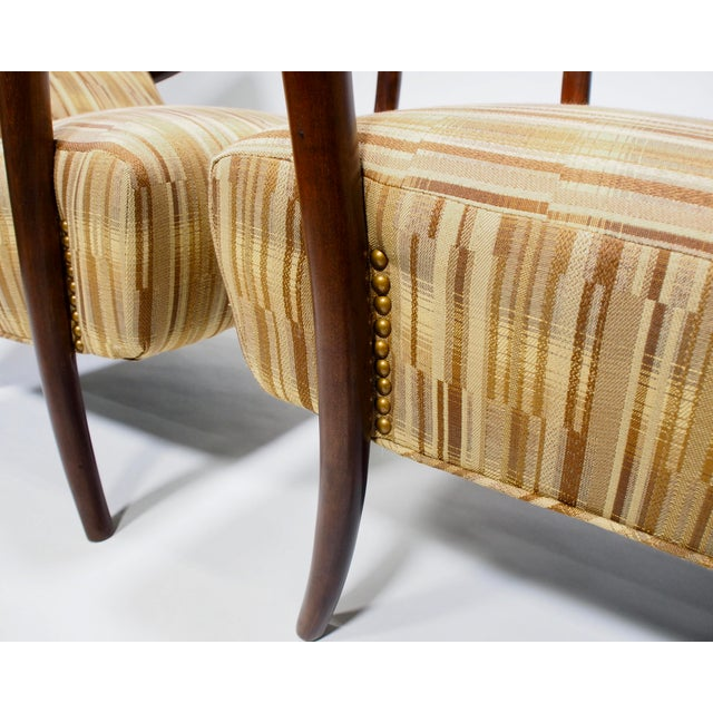 Italian Mid-Century High Back Chairs - A Pair - Image 9 of 10