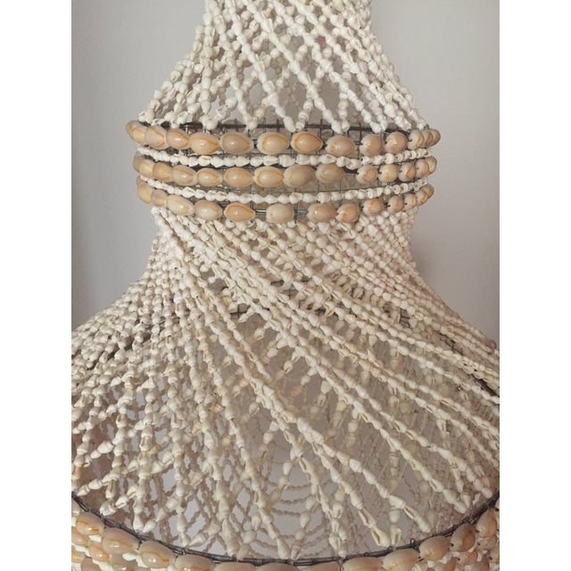 Beaded Shell Chandelier Lantern For Sale - Image 5 of 7