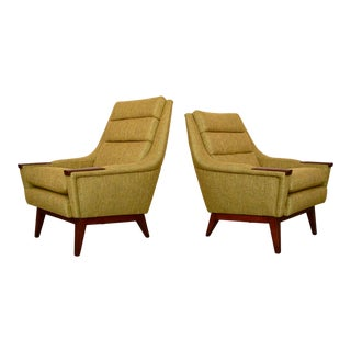 Danish Modern His & Hers Lounge Chairs - a Pair For Sale