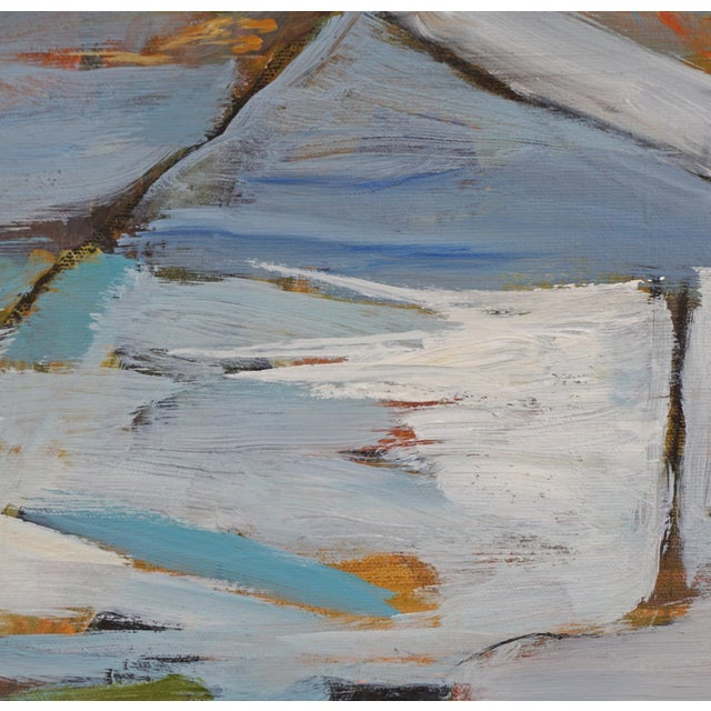 """2020s """"Land Lines"""" Abstract Landscape Painting by Laurie MacMillan, Framed For Sale - Image 5 of 7"""