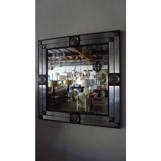 Customizable Paul Marra Medallion Mirror with Ribbed Glass - Image 3 of 8
