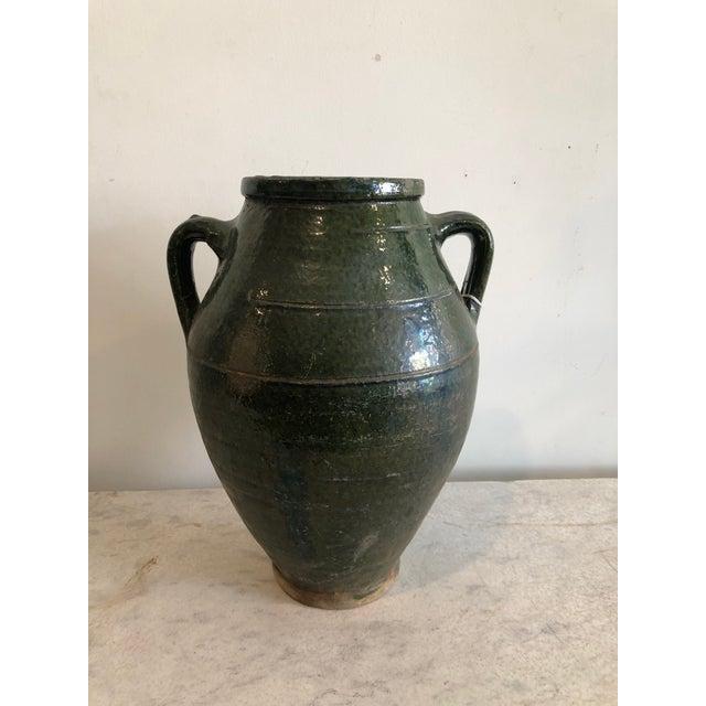 Early 20th Century Vintage Dark Glaze Olive Jars - Set of 3 For Sale - Image 4 of 13