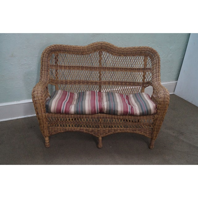 Quality Outdoor Wicker Patio Set - 4 Pieces - Image 3 of 10