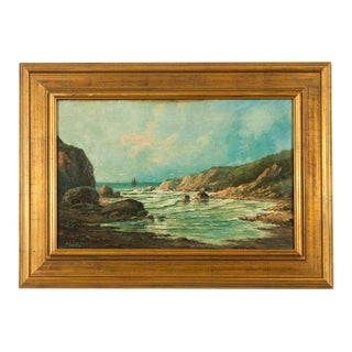 Western Coastal Landscape Painting For Sale