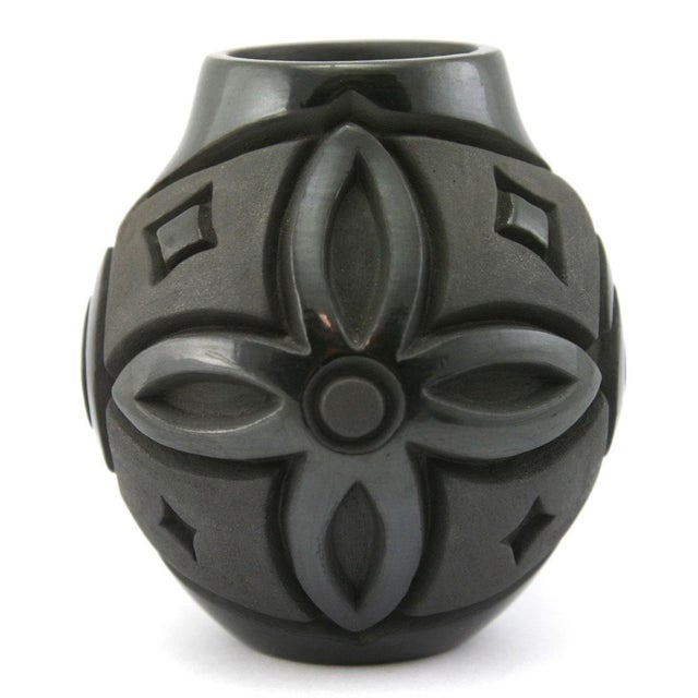 Harrison Begay, Jr. Navajo Black Carved Jar - Image 3 of 6