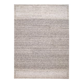 21st Century Contemporary Textured Loop Wool Rug For Sale