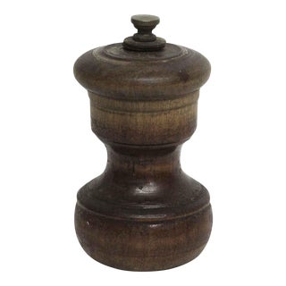 Small Wooden Vintage Pepper Mill