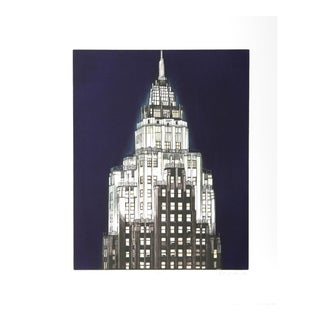 Richard Haas, City Services Building (Blue), Etching For Sale
