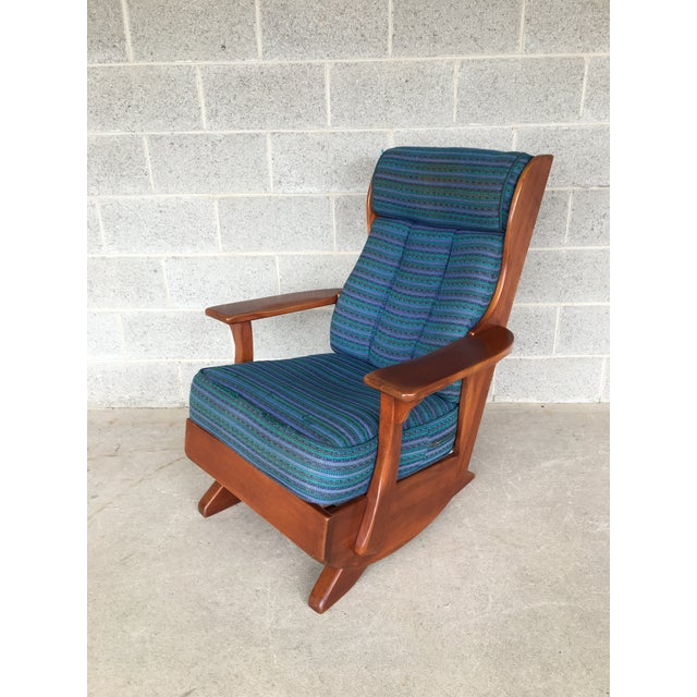 Circa 1930's Cushman Colonial Creations Plymouth Platform Rocker For Sale - Image 9 of 9