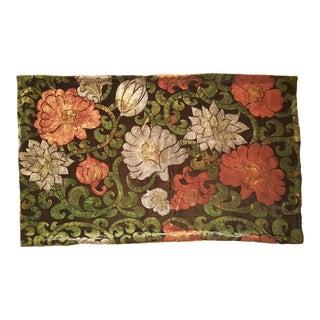 Flowers 12 Silk Velvet Pillow Cover For Sale