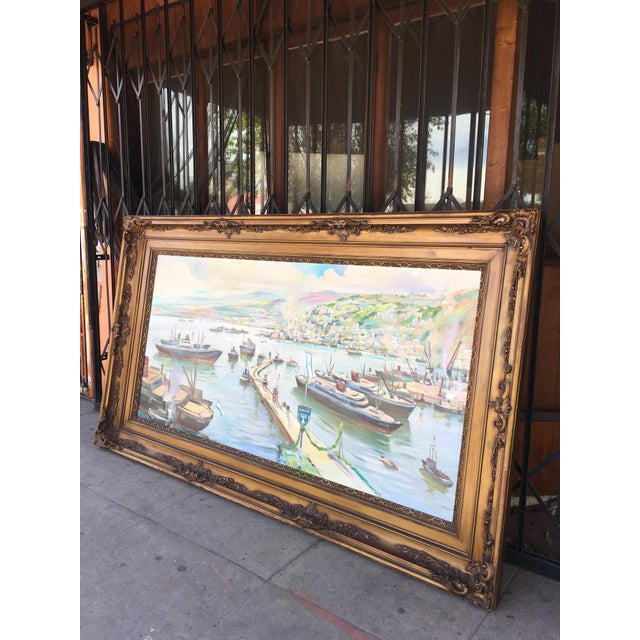 Traditional Vintage Victorian Picture Frame Painting For Sale - Image 3 of 13