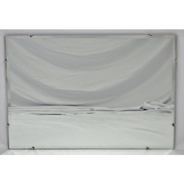 Vintage Mcm Frameless Beveled Wall Mirror Chairish
