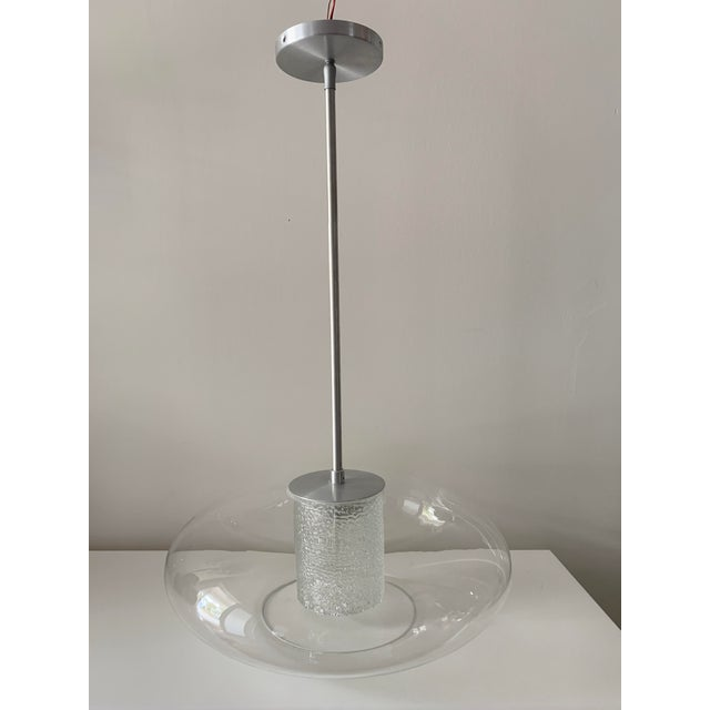 """Quoizel Modern """"Ice"""" Hanging Glass Globe Chandelier For Sale - Image 13 of 13"""