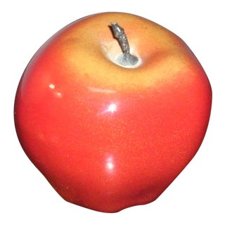 Metal Apple Paperweight Sculpture For Sale