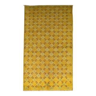 Yellow Vintage Turkish Rug, 2'9'' x 5' For Sale